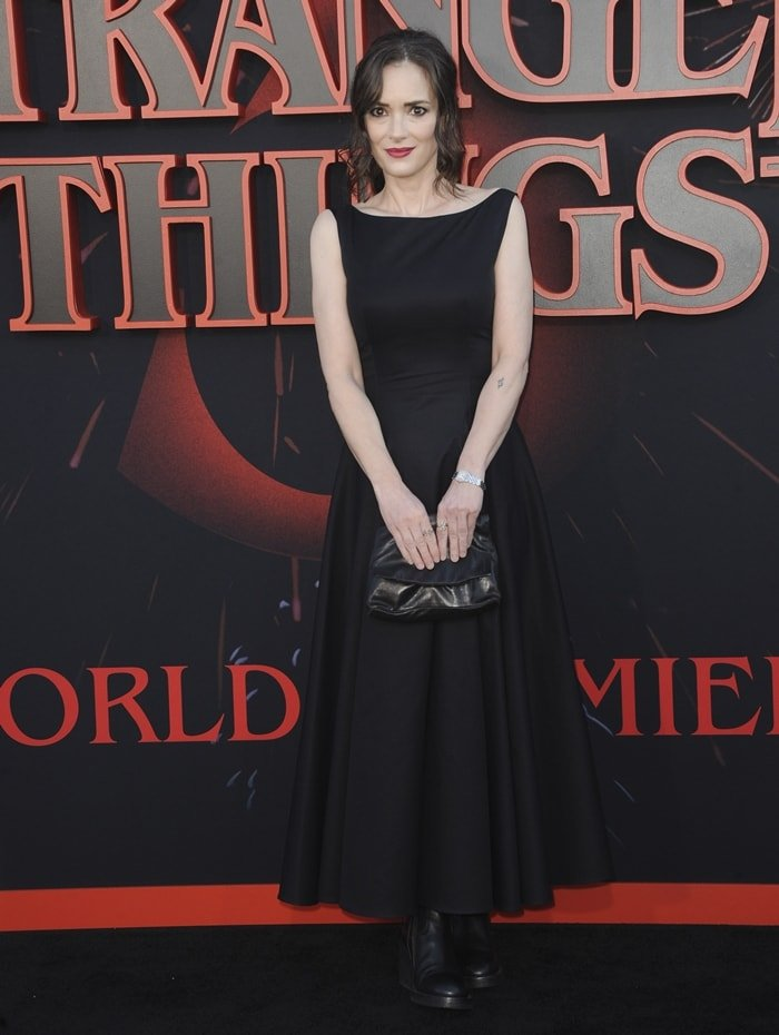 Winona Ryder, who stole over $5,500 worth of merchandise in 2001, at the Stranger Things Season 3 World Premiere