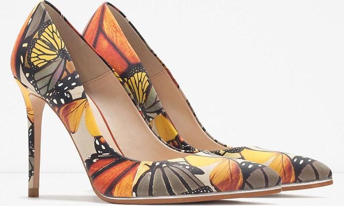 Zara-Butterfly-Printed-Pumps