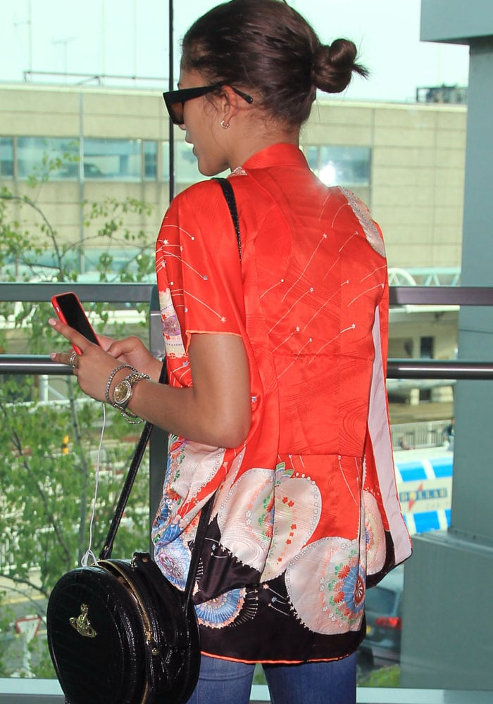 Zendaya arrives at Heathrow Airport in London for a promotional tour