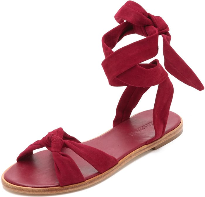 Zimmerman Ankle Tie Flat Sandals
