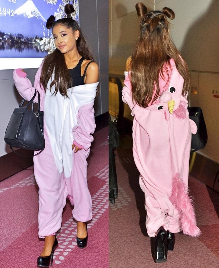 Ariana Grande's pink unicorn onesie
