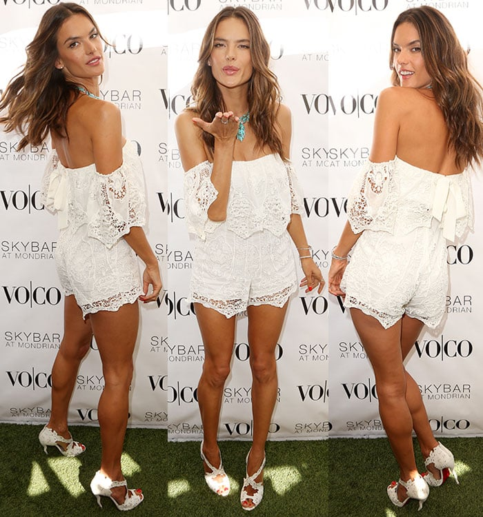Alessandra Ambrosio hosting the VO|CO Summer Closing Pool Party