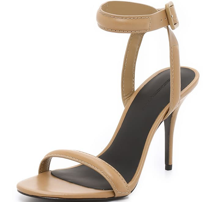"Alexander Wang ""Antonia"" Ankle-Wrap Sandals"