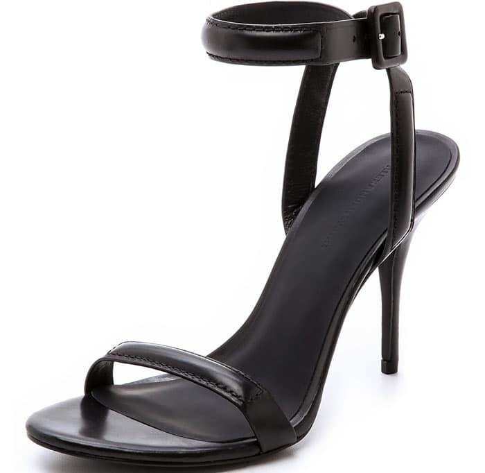 "Black Alexander Wang ""Antonia"" Ankle-Strap Sandals"