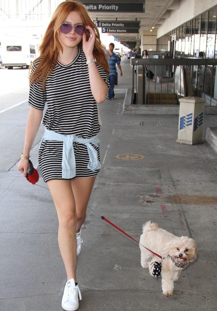 Bella Thorne LAX Adidas 5