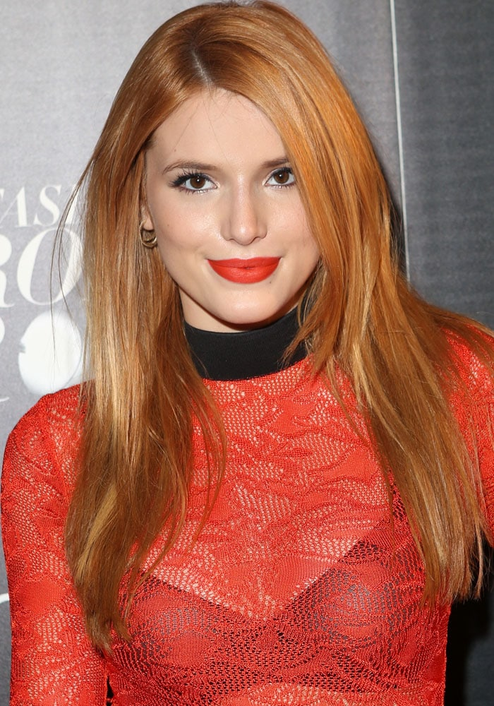 Bella Thorne attends Macy's Fashion's Front Row