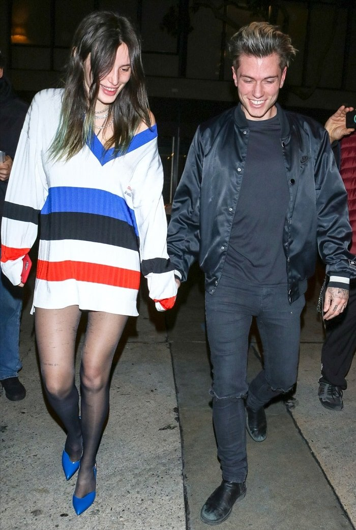 Bella Thorne and her Italian boyfriend Benjamin Mascolo