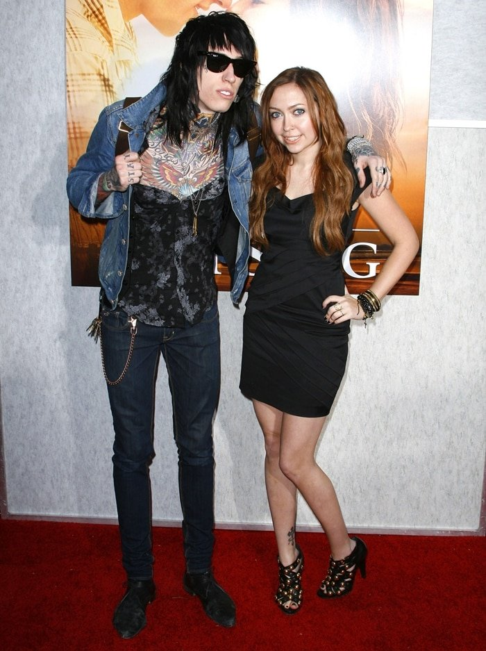 "Brandi Cyrus with her younger brother Trace Cyrus at the ""The Last Song"" Los Angeles premiere"