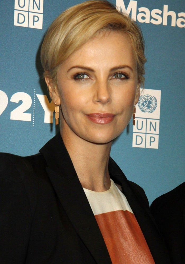 Charlize Theron attends the Mashable 2015 Social Good Summit
