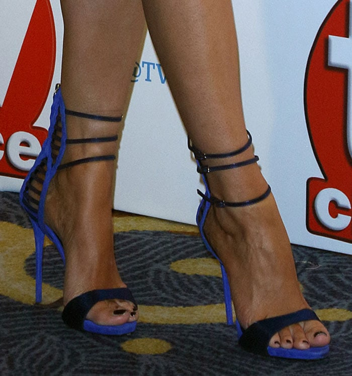 Chloe Sims in Giuseppe Zanotti sandals