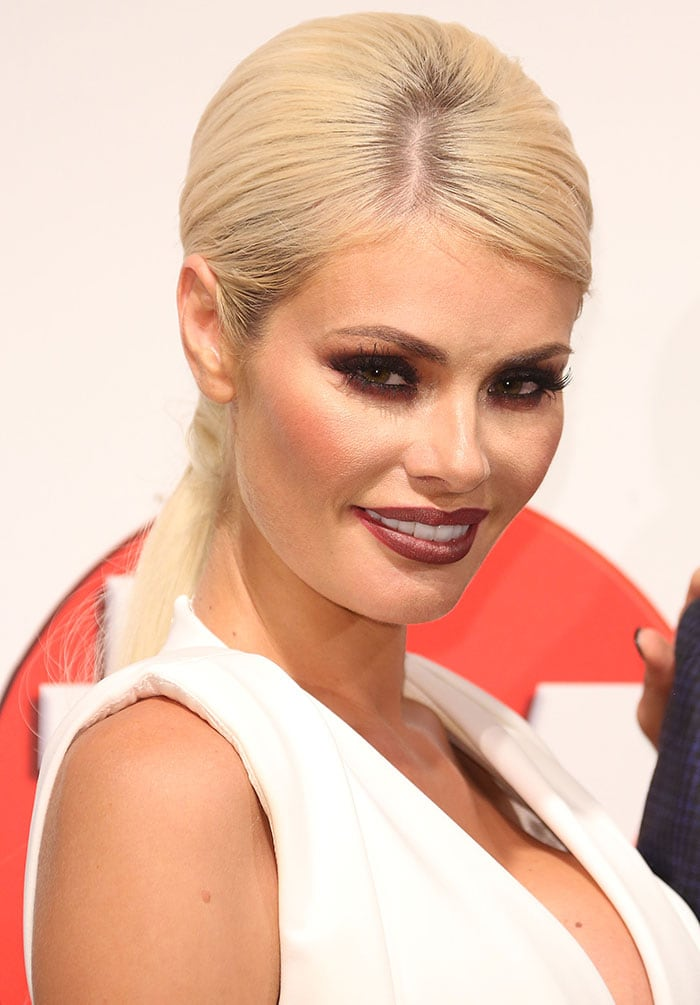 Chloe Sims at the 2015 TV Choice Awards held at the Hilton Park Lane in London, England, on September 7, 2015