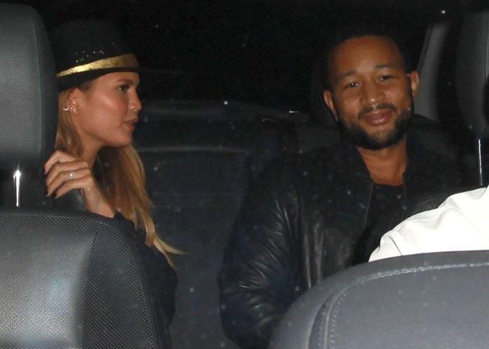 Chrissy Teigen and John Legend arrive for date night