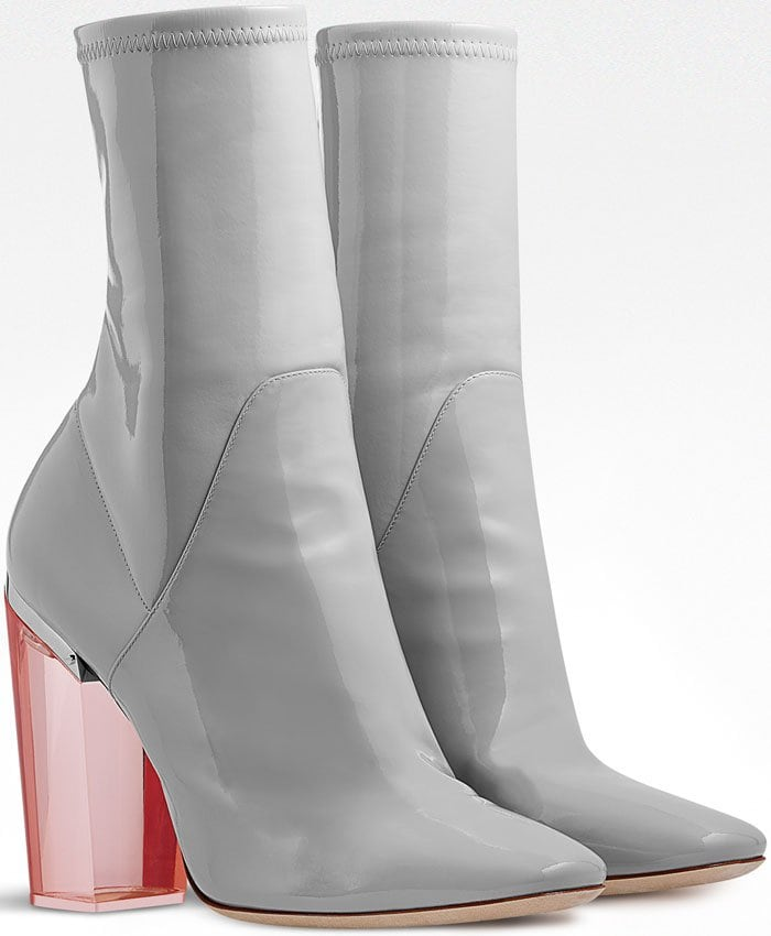 Christian Dior Grey Patent Calfskin