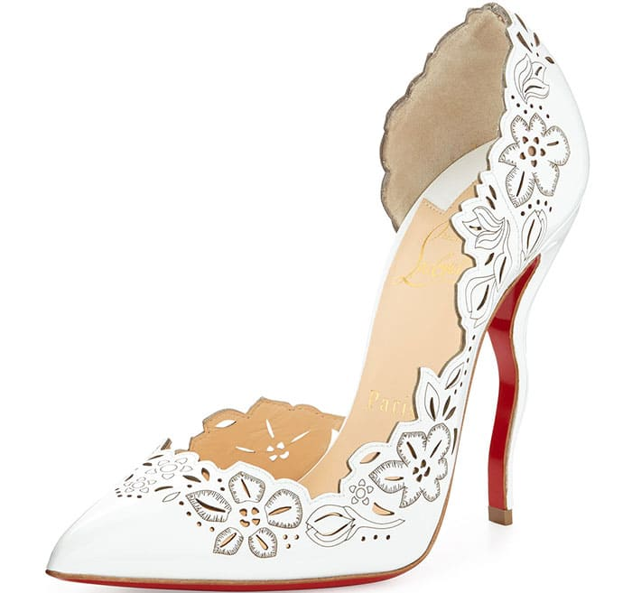 "Christian Louboutin ""Beloved"" Laser-Cut Patent Pumps"