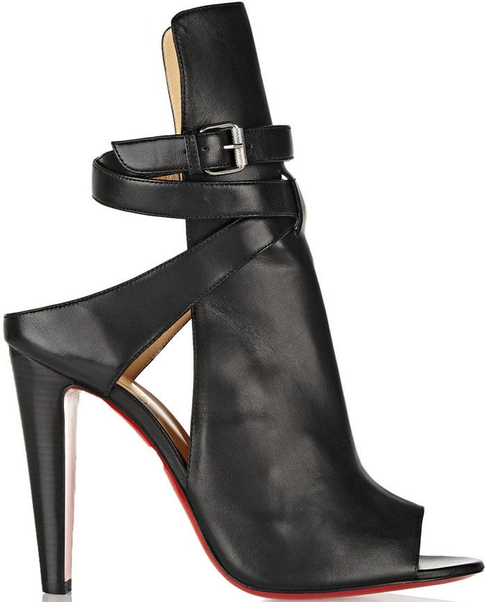 Christian Louboutin Hippik 100 Cutout Leather Ankle Boots