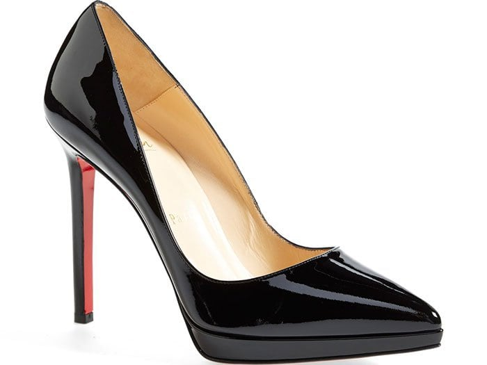 """Christian Louboutin """"Pigalle Plato"""" Pointy-Toe Pumps Black"""