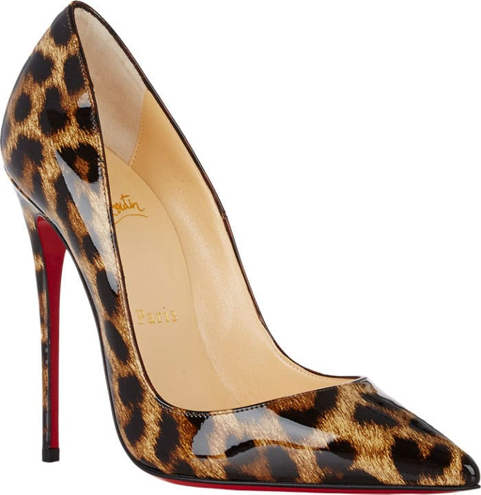"the latest ceb38 edc17 Selena Gomez Wears Her Leopard-Print Christian Louboutin ""So ..."