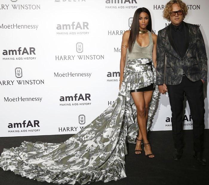 Ciara brought newly-minted Robert Cavalli head designer, Peter Dundas, as her date