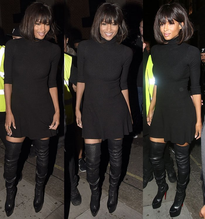 Ciara arriving for her appearance at the Libertine Club in London, England, on September 23, 2015