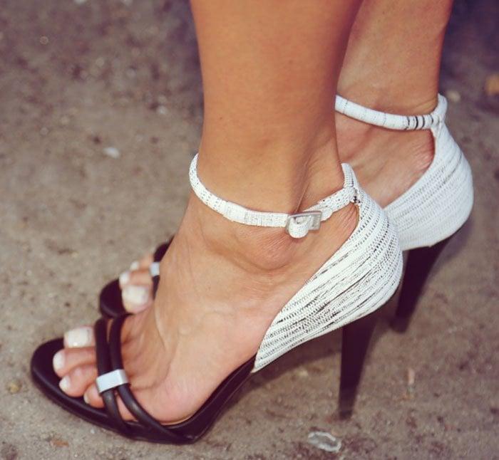 Debra's two-tone Calvin Klein heels