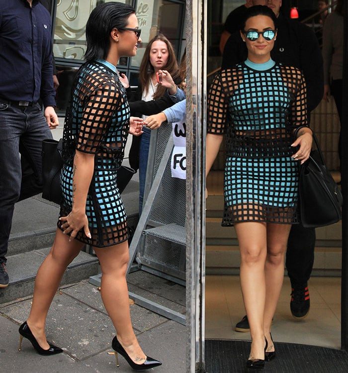 Demi Lovato smiles as she struts through Paris with all the self-confidence in the world