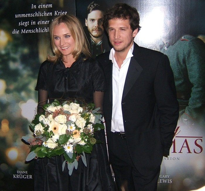 """Diane Kruger and her husband Guillaume Canetat the """"Merry Christmas""""Premiere"""