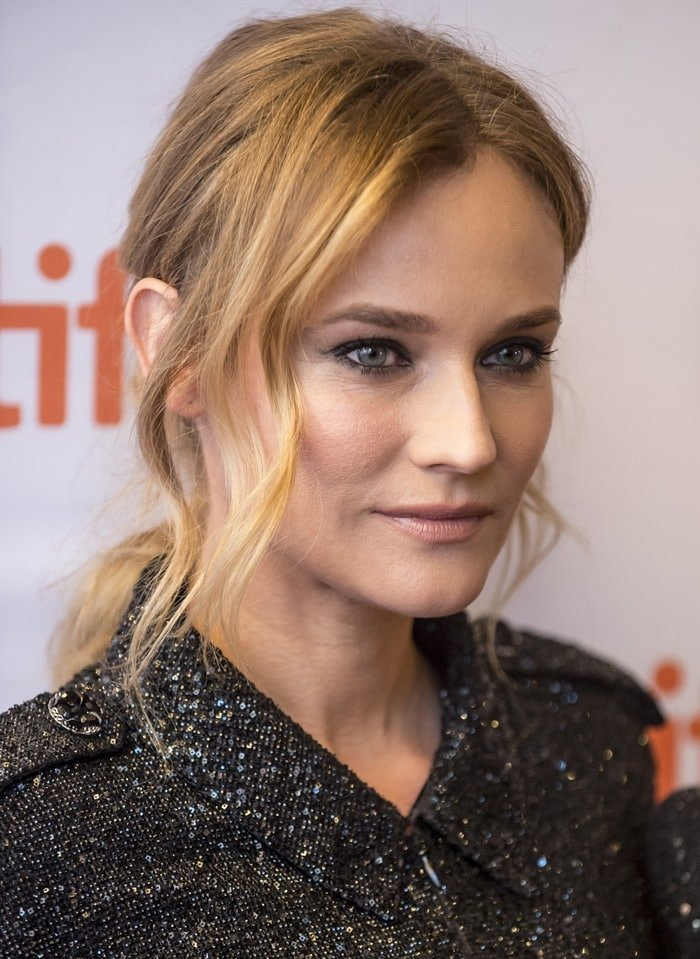Diane Kruger at the Sky premiere held during the 2015 Toronto Film Festival