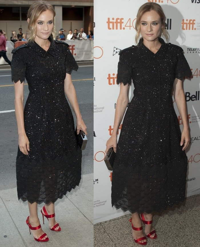 Diane Kruger looked stunning in a rhinestone embroidered Chanel dress