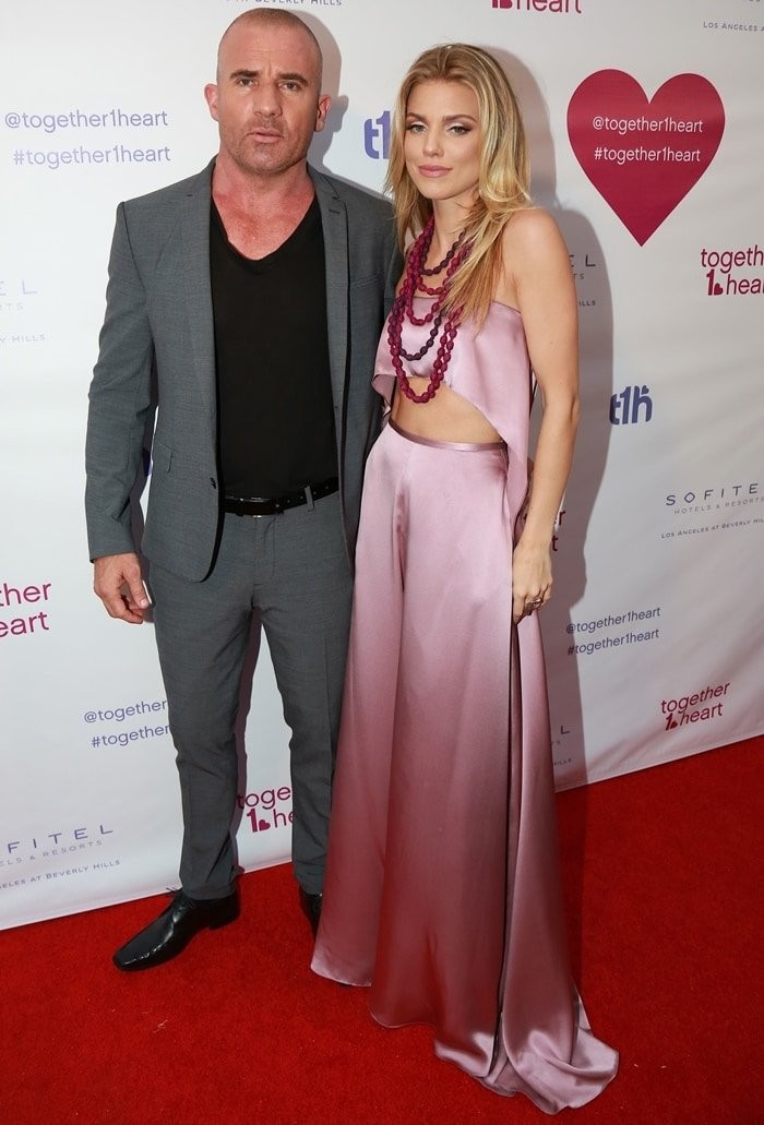Dominic Purcell and AnnaLynne McCord started dating after meeting on the set of Officer Down in 2011