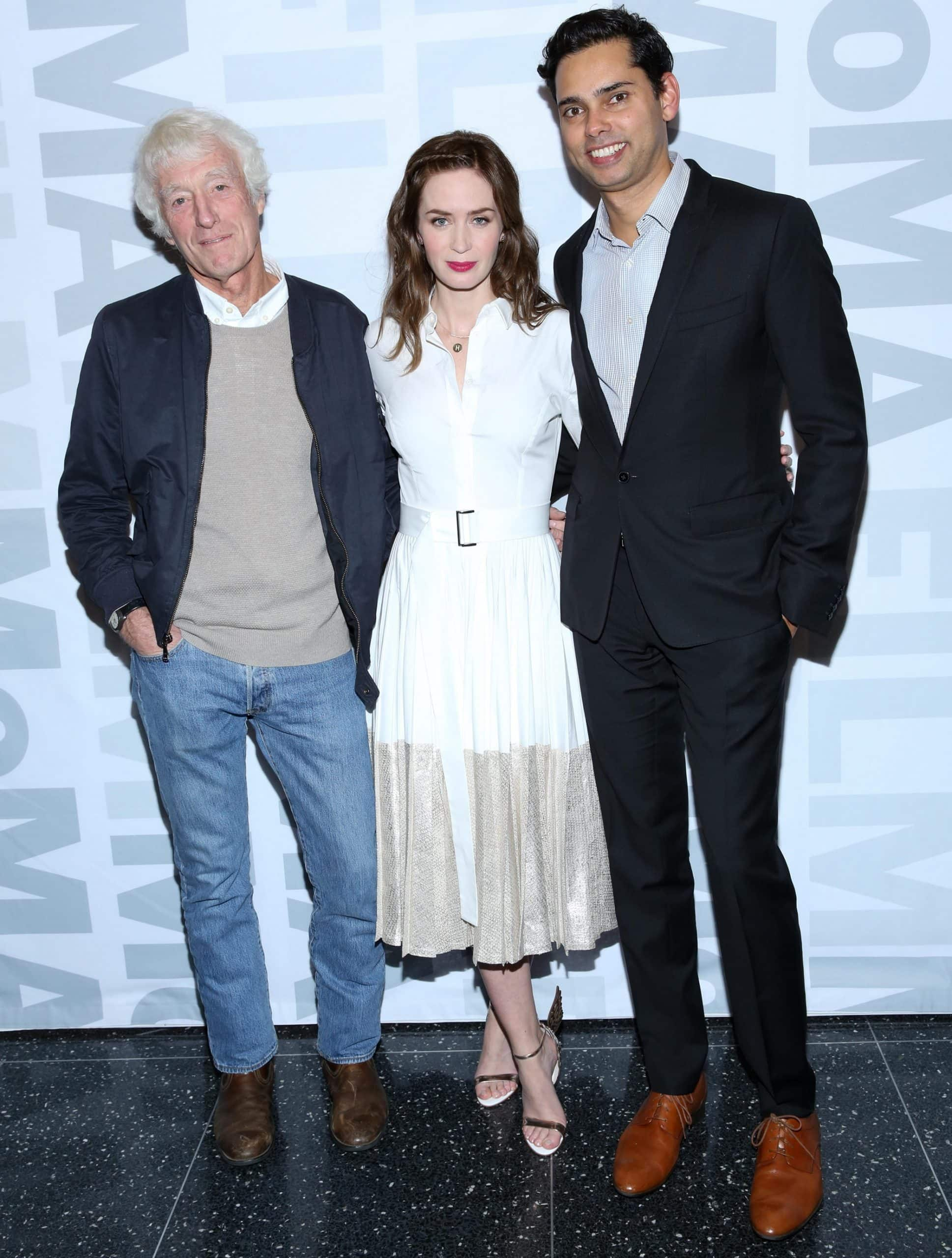 """Roger Deakins, Emily Blunt, and MoMA Chief Curator of Film Rajendra Roy attend """"Sicario"""" New York Screening"""