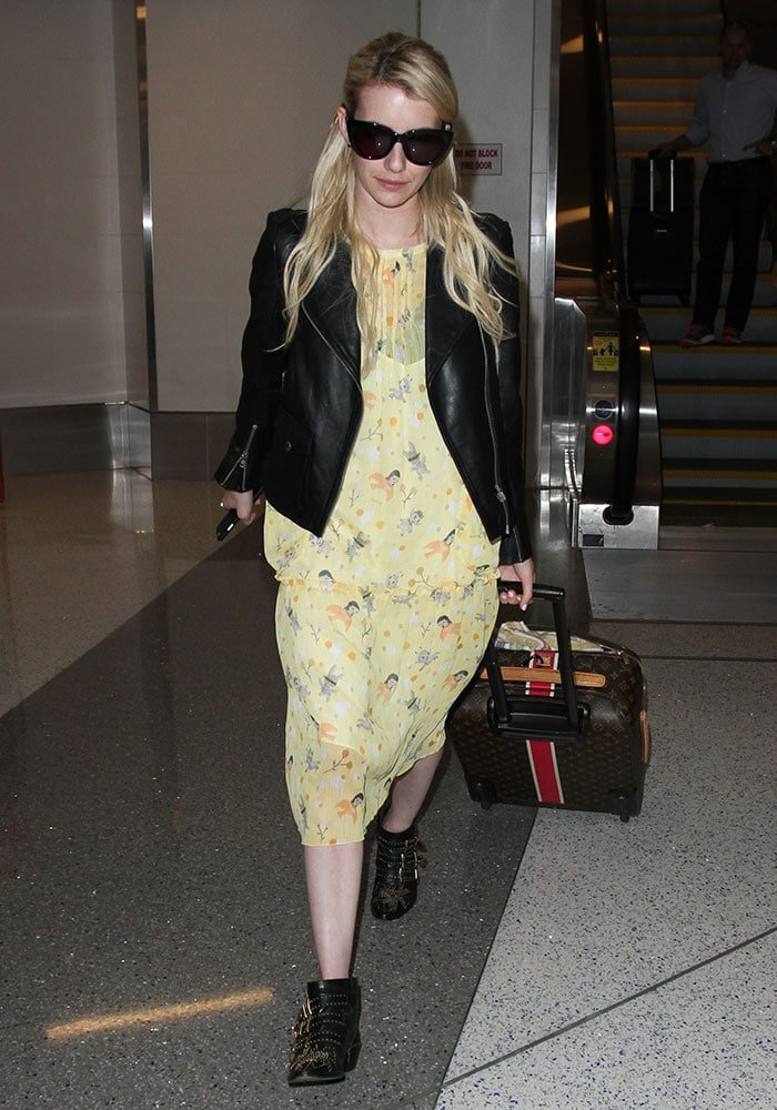 Emma Roberts arrives at Los Angeles International Airport