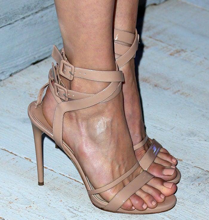 Emmy-Rossum-nude-strappy-sandals