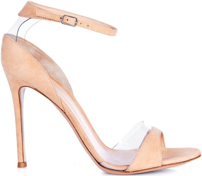 """Gianvito Rossi """"Natalie"""" Suede and PVC Sandals"""