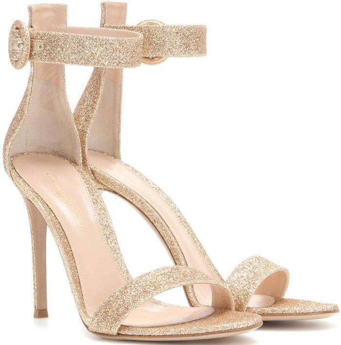 Gianvito Rossi Portofino Glitter Sandals