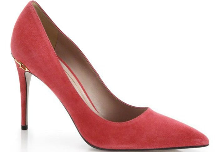 Gucci Adina Horsebit Suede Pumps Pink