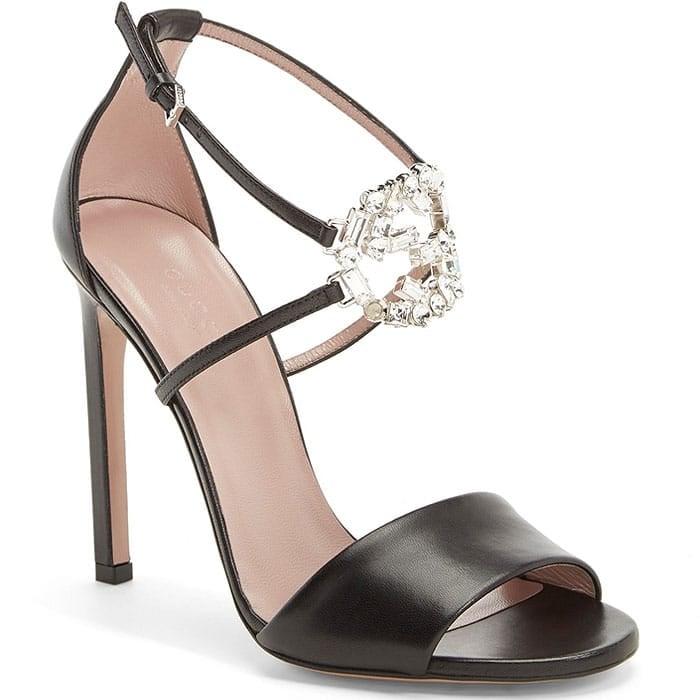 Gucci sparkling GG logo sandals