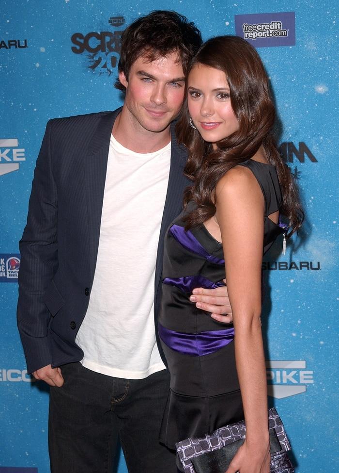 "Ian Somerhalder and his girlfriend Nina Dobrev attend SPIKE TV'S ""SCREAM 2009"""