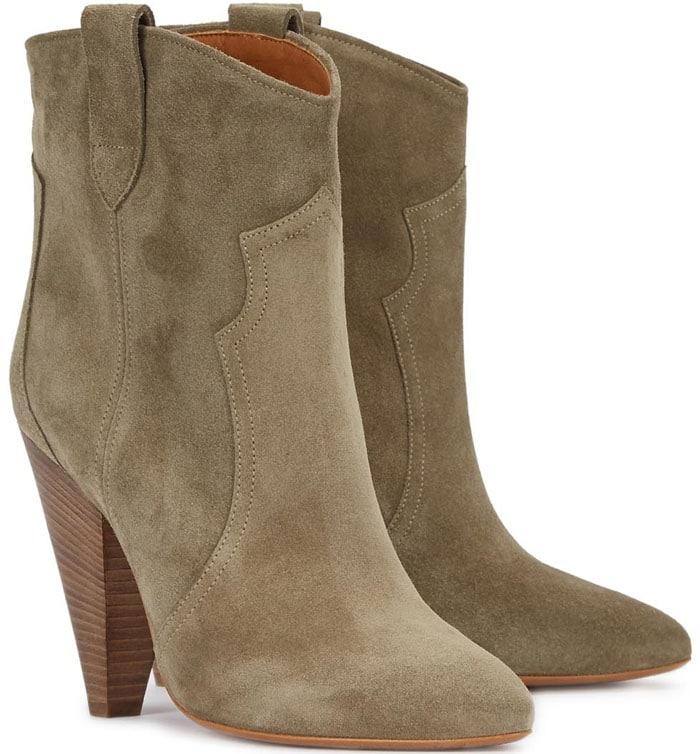 Isabel Marant Étoile Roxann Sand Suede Ankle Boots