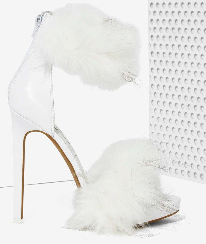 Jeffrey Campbell Cookie Faux Fur Heels