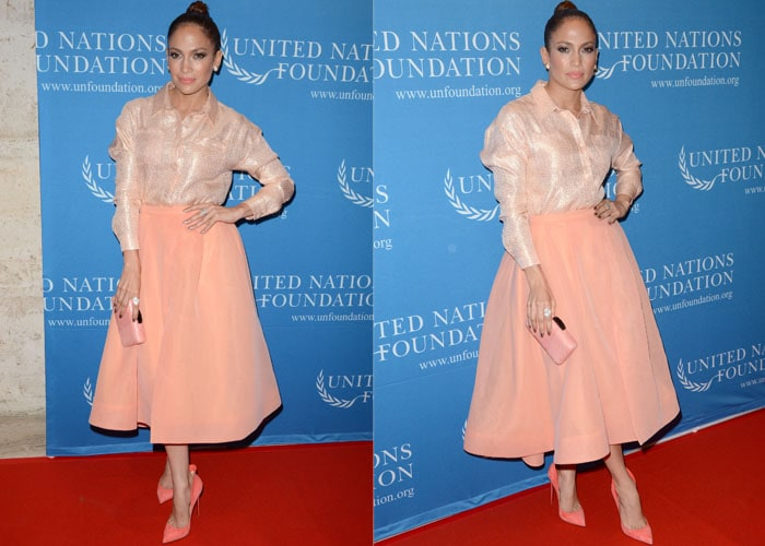 Jennifer Lopez showed her support for women empowerment at the 2015 UN Gender Equality event