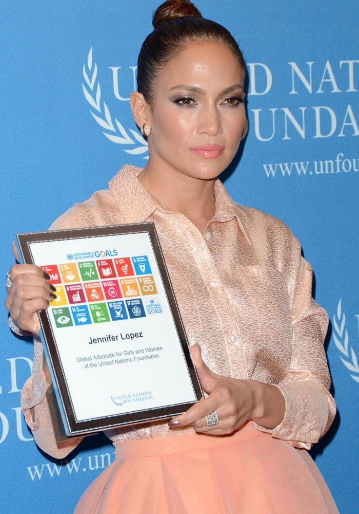 Jennifer Lopez at the UN Foundation's gender equality event in Manhattan on September 25, 2015