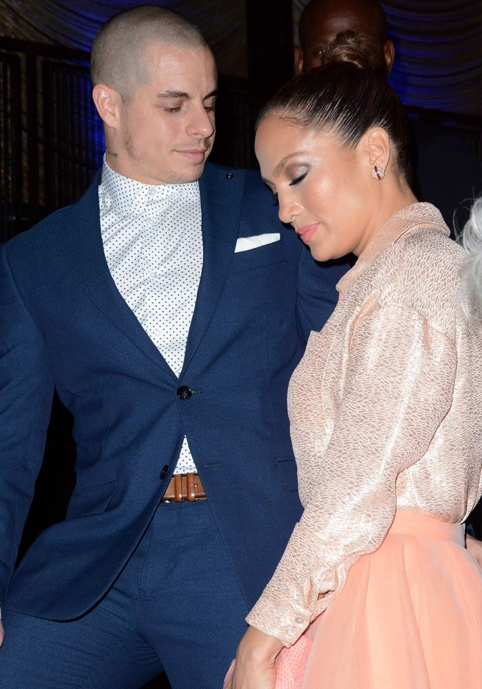 Jennifer Lopez with on-off beau Casper Smart at the UN Foundation's gender equality event in Manhattan on September 25, 2015