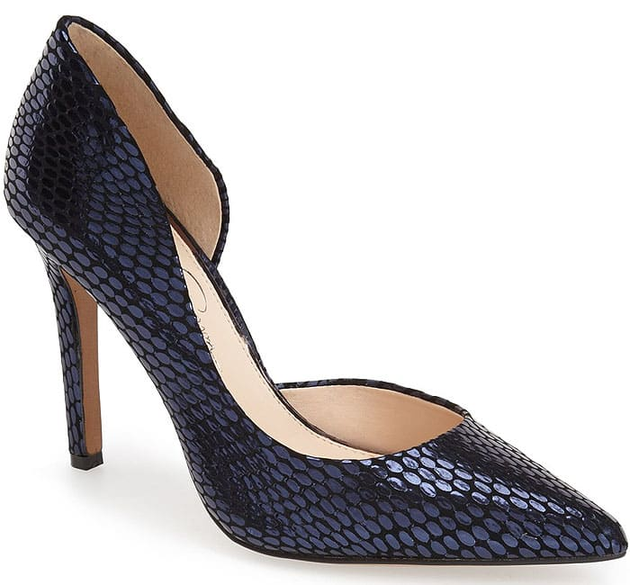Jessica Simpson Claudette Shoes in Black and Navy