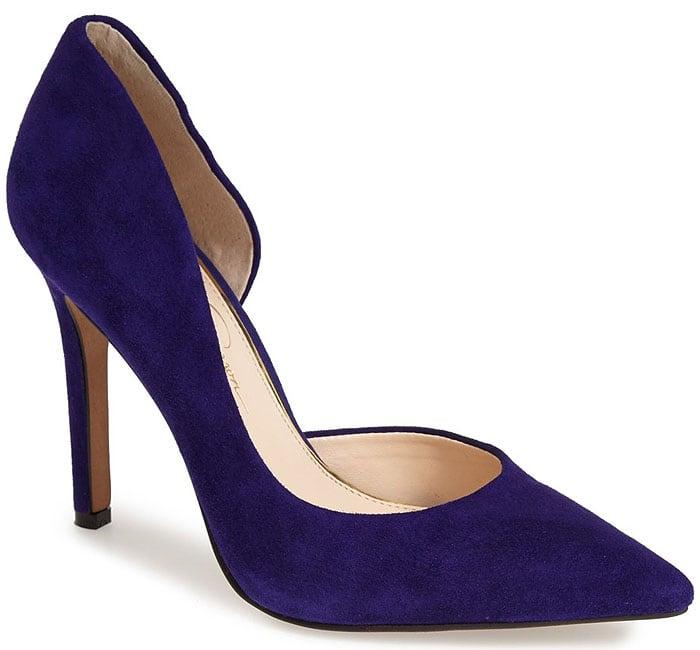 Jessica Simpson Claudette Heels Deep Purple