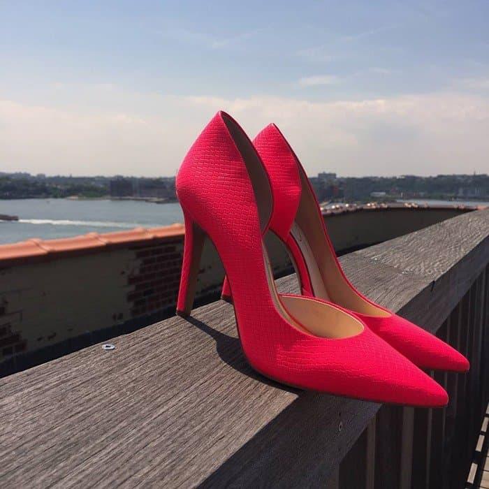 Jessica Simpson Claudette Pumps Laser Pink