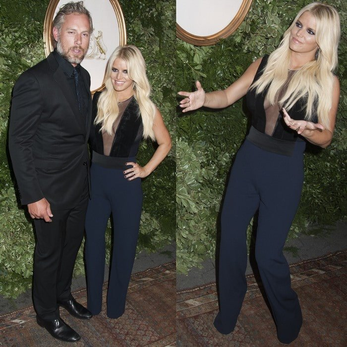 Jessica Simpson and Eric Johnson attending the 10th Anniversary Celebration of the Jessica Simpson Collection