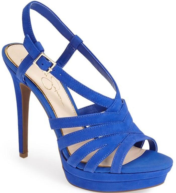 "Jessica Simpson ""Peace"" Suede Peep Toe Platform Sandal"