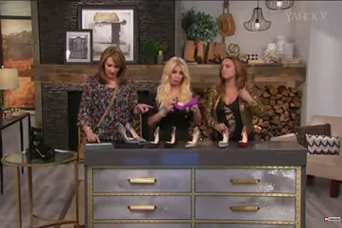 Jessica Simpson forgetting the name of her own shoes from her own clothing line during her guest appearance on the Home Shopping Network