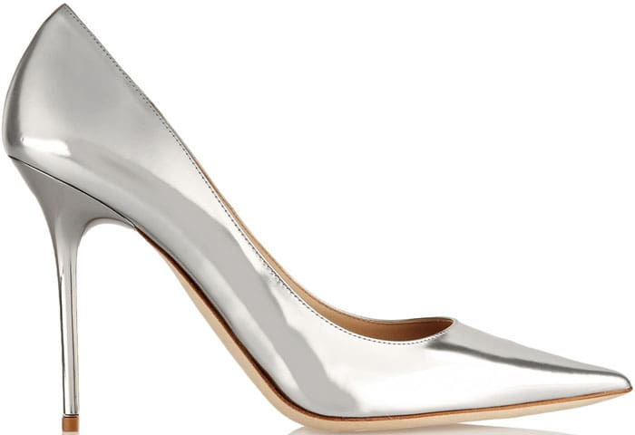 Jimmy Choo Abel Mirrored-Leather Pumps