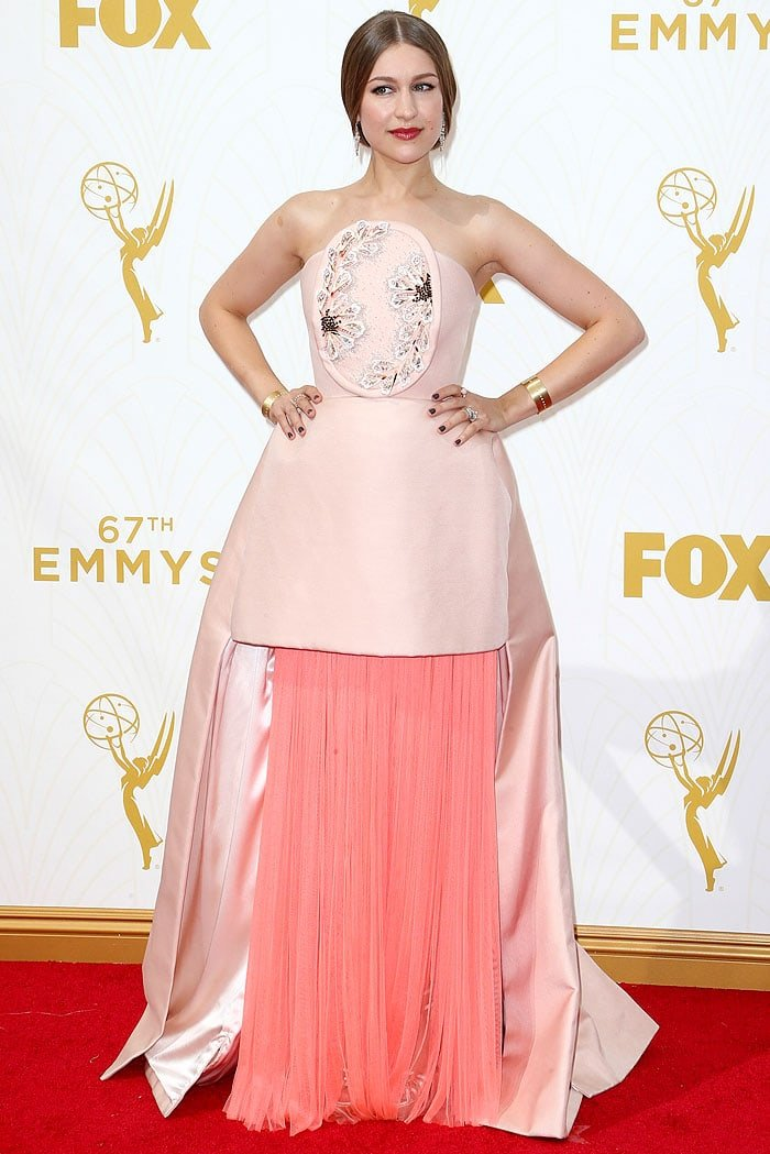 Joanna Newsom Is Emmys Most Intriguing In Pink Delpozo Gown And